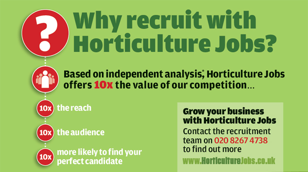 Horticulture Jobs can offer 10x the value of any other job board in the sector