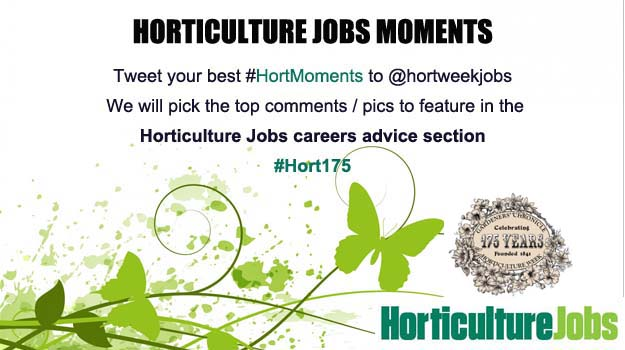 Tweet us your horticulture jobs moments
